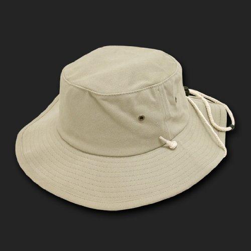 0159e53c34e629 Khaki Tan Aussie Style Outback Drawstring Boonie Hat -- Bucket Hat Size  LARGE/XL Review