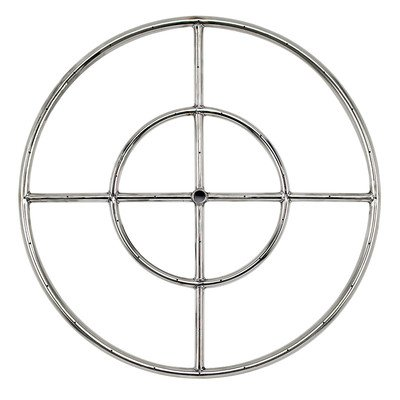 American Fireglass Stainless Steel Fire Pit Burner Ring, 24-Inch (Fire Burner Ring compare prices)