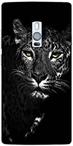 Snoogg Black And White Leopard Designer Protective Back Case Cover For One Pl...