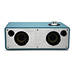 GGMM M-Freedom Wireless Plug-n-Play Built-in WiFi Home Audio Leather Speaker (Compatible with Apple Products)| 30W Output, Supports Airplay, DLNA, Spotify, Pandora (Blue)