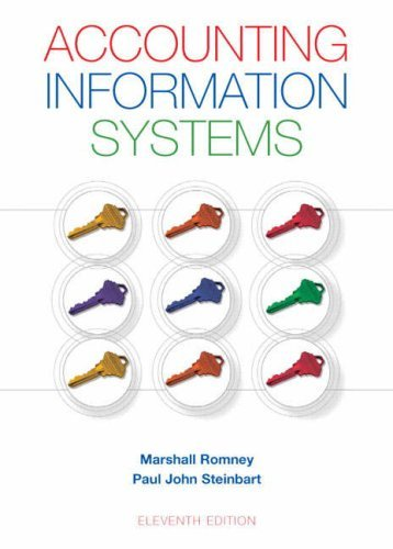 Accounting Information Systemn) s (11th Editioby Marshall B. Romney and Paul J. Steinbart (Hardcover , 2008)