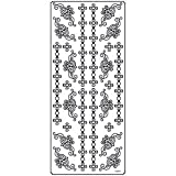 Anita's Outline Stickers DECORATIVE CROSS BORDERS Silver Peel off stickers OLS 65862