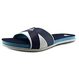 adidas Performance Women\'s Supercloud Plus Slide W Athletic Sandal,Bright Cyan Blue/White/Collegiate Navy,7 M US