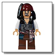 Lego Disney Pirate of the Caribbean Jack Sparrow Alarm Clock