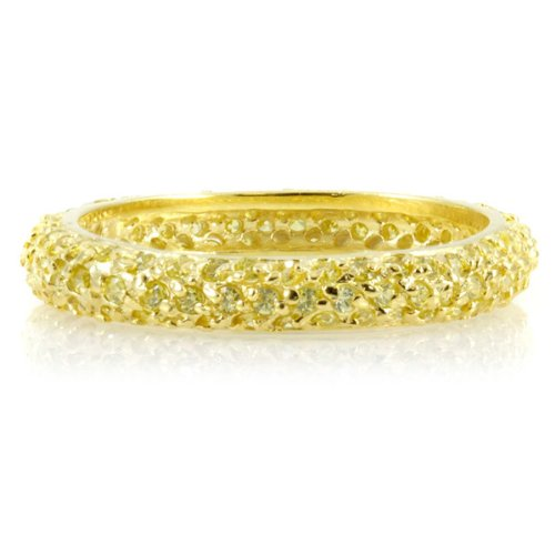Emitations X02-DECHC-6 Carnabys CZ Stackable Gold Eternity Ring - Size 6