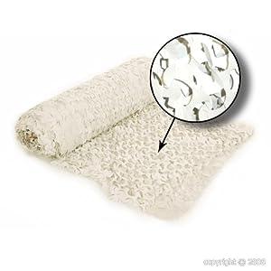 AlxShop - Filet De Camouflage Blanc (Prix Au Mètre Par Laize De 2,40M) - Couleur : White