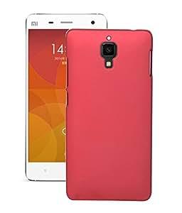 Quantric premium rubberized hard back case cover for xiaomi mi4i red