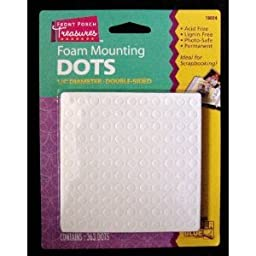 Foam Mounting Dots Double Sided 1/4\