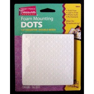 "Big Save! Foam Mounting Dots Double Sided 1/4"" Diameter 363 Dots Per Package"