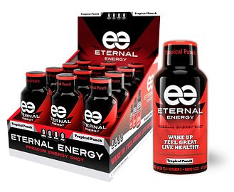 Eternal Energy Shot Tropical Punch Flavor With Minerals, 25 Vitamins, Amino Acids And Antioxidants And No Sugar Added.