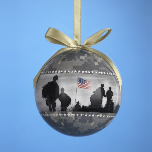 U.S. Army Camouflage Christmas Tree Ball Ornament By Kurt