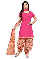 Applecreation Pink | cotton dress materials for women low price PARTY WEAR new collections Salwar Suit Kameez