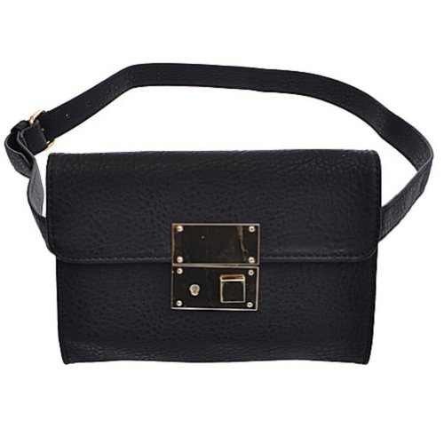 Black Fashion Fanny or Waist Pack for Women