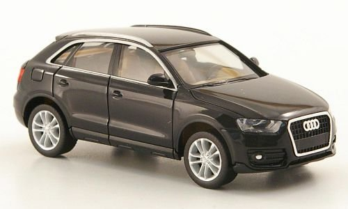 audi q3 schwarz modellauto fertigmodell herpa 1 87. Black Bedroom Furniture Sets. Home Design Ideas
