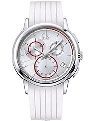 Calvin Klein Quartz Drive Gents White Chronograph Dial Men's Watch K1V27938