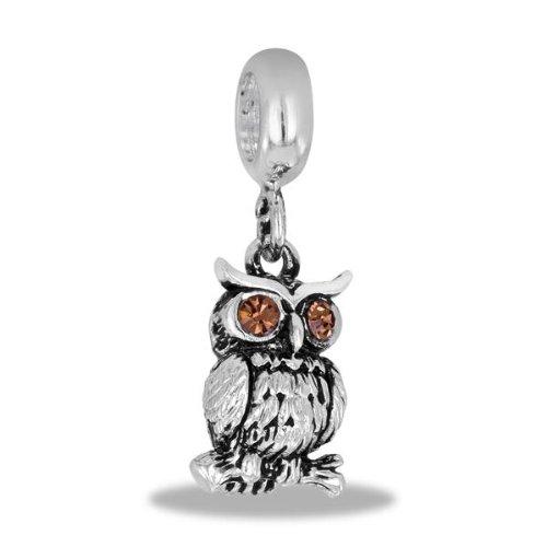 Davinci Bead Dangle Owl - Jewelry Bracelet Memories Beads Db25-7-Dav front-953500