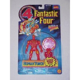 Fantastic Four Animated Series Human Torch Sparking Action