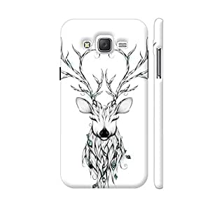 Colorpur Poetic Deer Mobile Case Back Cover For Samsung Galaxy J5 (Matte White)