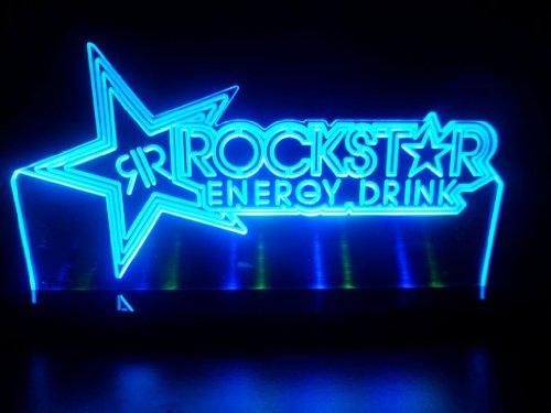 Advertising Rock Star Energy Drink Led Desk Lamp Night Light Beer Bar Bedroom Game Room Signs front-534581