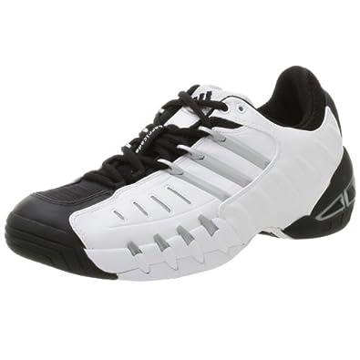 adidas Men's Barricade 2 Tennis Shoe,Black/Metallic Silver/Run White,12.5 M
