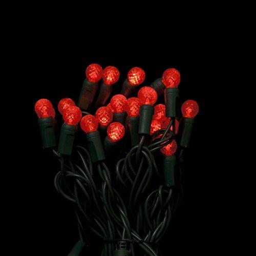 G12 Red LED string lights 25ft (50bulbs) - Berry G12 christmas lights - Artificial Christmas ...