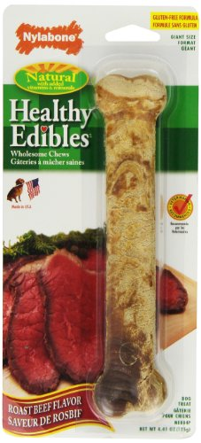 Artikelbild: Nylabone Healthy Edible Longer Lasting Dental Dog Bone Chew Toy Roast Beef Giant