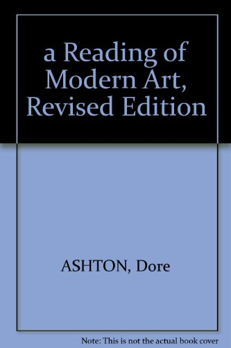 A Reading of Modern Art. PDF