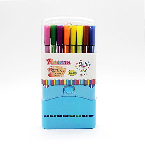Color Pens Washable Art Markers Watercolor Fine Tip Colored Pen With 24 Set For Coloring Books