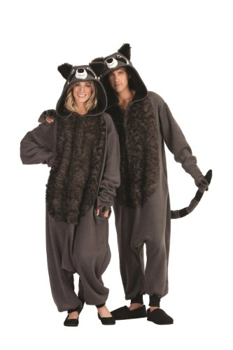 Adult Raccoon Costume Pajamas