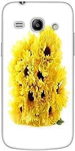 Snoogg Floral Background Designer Protective Back Case Cover For Samsung Gala...