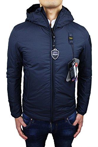 Giubbotto Uomo Blauer Art 155BLUC02095 giubbino giacca blu scuro jacket nuovo (L)