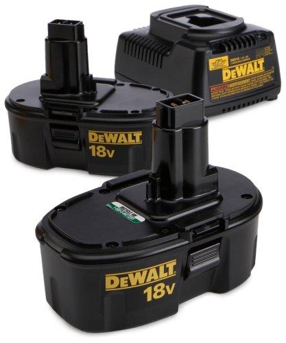 DEWALT DC759KA Heavy-Duty 18-Volt Ni-Cad 1/2-Inch Cordless Drill/Driver Kit