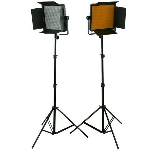 2 X Dimmerable 600 Led Video Photo Studio Lighting Lite Panel With Stands, Sony V Mount, 110V-230V Uls600Sax2