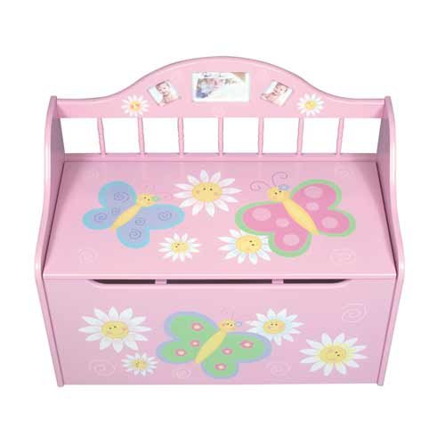 Carnival Toy Box Pink: Save On Kids / Children's Pink Butterfly Storage Treasure