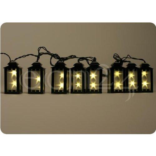 Batteriebetriebene Led Lichterkette mit 8 Laternen