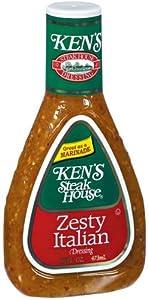*Ken's Steak House Zesty Italian Salad Dressing 16 oz (Pack of 6)