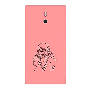 Skin4gadgets Shirdi Sai Baba - Line Sketch on English Pastel Color-Peach Phone Skin for LUMIA 800