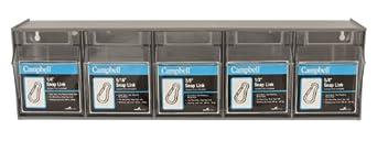 """Campbell B0720008 92 Piece Spring Snap Link Tilt Bin Display Assortment, 24"""" Width, 6-1/2"""" Height, 5-1/4"""" Depth"""