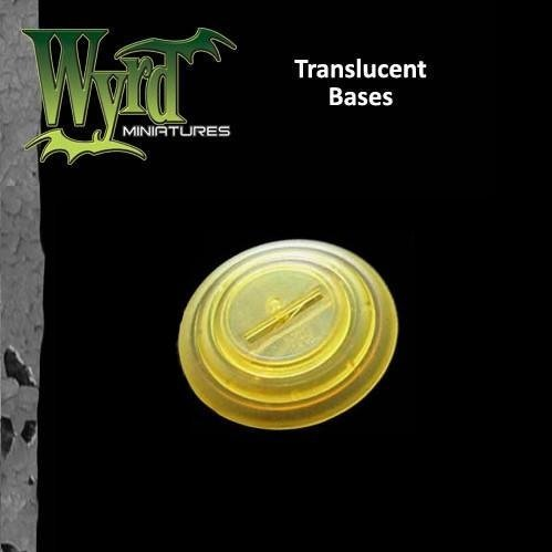 Wyrd Miniatures 50mm Translucent Gold Bases Model Kit (3 Pack)