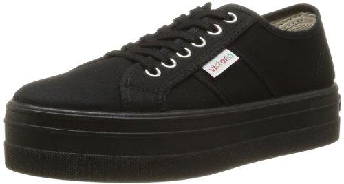 victoria sneakers tela, Nero, 38