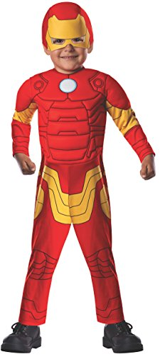 Marvel Classics Avengers Assemble Padded Muscle Chest Iron Man Costume, Toddler - 1