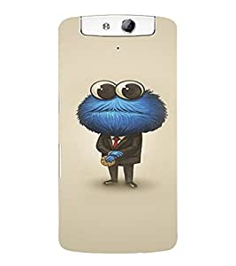 EPICCASE Funny Cartoon Mobile Back Case Cover For OPPO N1 (Designer Case)
