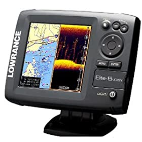 Lowrance 000-10236-001 Elite-5 DSI DownScan Imaging Chartplotter/Fishfinder with 5-Inch Color LCD and Basemap