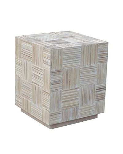 Jeffan Colton End Table, White