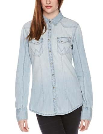 WRANGLER Damen Shirt , Kent  - Blau - Blue - XS