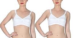 Glus Women's Wire Free Full Cup Cotton Bra , Cup Size - B (2, 36)