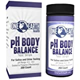 Ph Test Strips 200 Count - Great for Alkaline diet and overall ph balance - Free Alkaline Food Chart