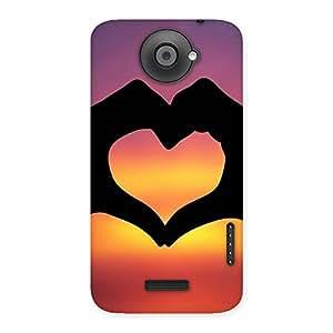 Ajay Enterprises Lovely heart Back Case Cover for HTC One X