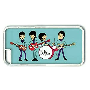 iPhone 6 Plus Case,PC Hard Shell Transparent Cover Case for iPhone 6 Plus(5.5Inch) The Beatles Cartoon by Sallylotus at Gotham City Store