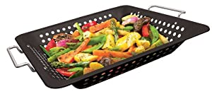 GrillPro 98121 Porcelain Coated Square Wok Topper by GrillPro